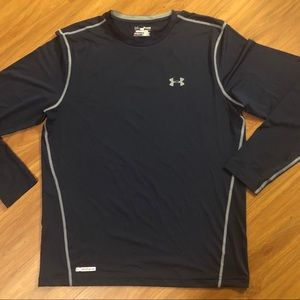 Under Armour Navy Compression Long Sleeve Tee (XL)